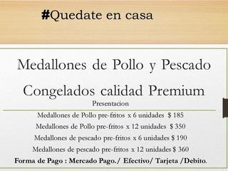 Medallones De Pollo Y Pescado PrefritosCalidad Premium
