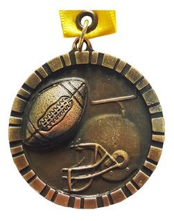 Medalla Metálica Para Fútbol Americano Color Oro