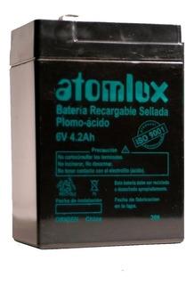 Bate Gel Atomlux 6v 4,2ah X Unidad P/ Luces 2020 2028 2045
