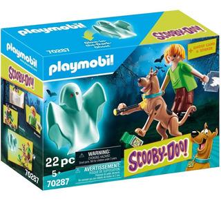 Playmobil 70287 Scooby Doo Com Salsicha E Fantasma Brilhante