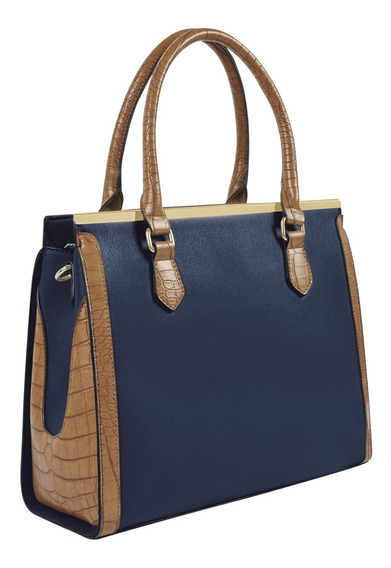Bolso Mujer Azul Marino/camel Cklass
