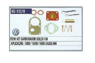 Kit De Junta Do Carburador Solex Vw Fusca 1300/1500/1600 Gas