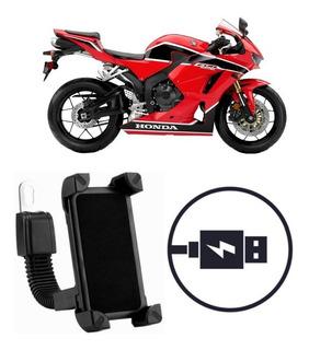 Suporte Carregador Celular Moto Honda Cbr 600 Rr