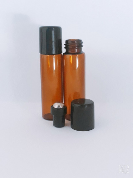 25pz Envase-botella Rollon 5ml Vidrio/cristal Ambar (it-37)