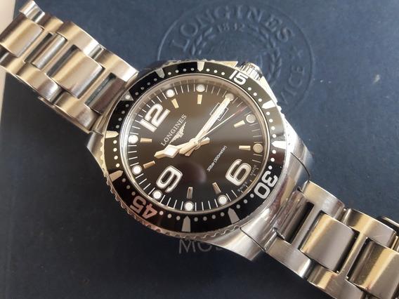 Relógio Longines Hidroconquest Semi-novo Com Estojo Completo