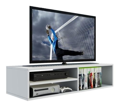 Imagem 1 de 3 de Rack P/ Tv, Dvd, Cd ,video Game, Nicho Prateleira Mdf Branco