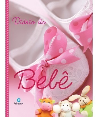 Livro Diário Do Bebê Gestante Idea Presente Menina Capa Dura