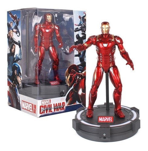 Figuras De Acción Iron Spider/iron Man Legends + Base De Luz