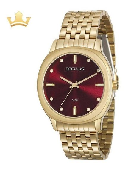 Relógio Seculus Feminino 20565lpsvds1 Com Nf