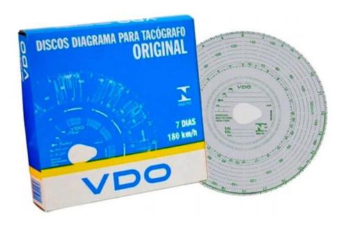 Imagem 1 de 2 de Disco Diagrama Para Tacógrafo Vdo Semanal - 7 Dias 180 Km