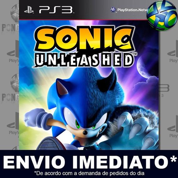 Sonic Unleashed Ps3 Psn Jogo Promoção Pronta Entrega Play 3