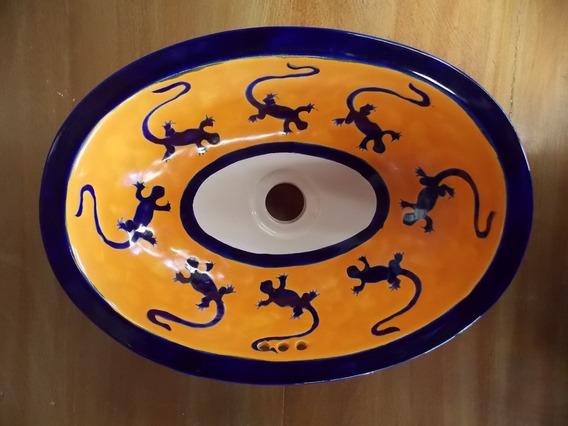 Lavabo Ovalin De Talavera Estilo Antiguo. Mod Ig T1