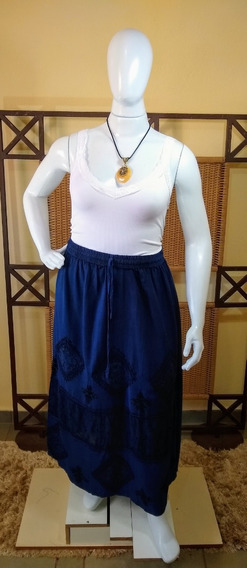 Saia Longa/moda Indiana Bordada / Estonada C04