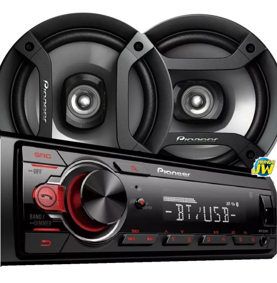 Combo Stereo Pioneer 215 Usb Bluetooth + Parlantes 1634 216