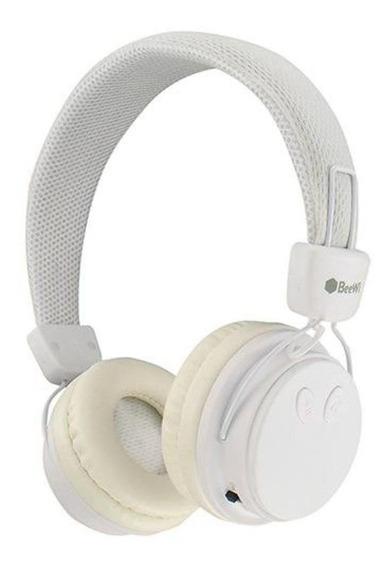 Fone De Ouvido Branco Bluetooth P2 Beewi Ground Bee Premium