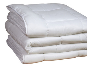 Acolchado 2 Plazas Blanco Cubrecama Cobertor Edredon Nordico