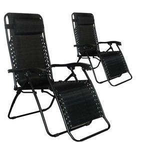 Kit 02 Cadeira Sevilha Reclinável Preta Mor