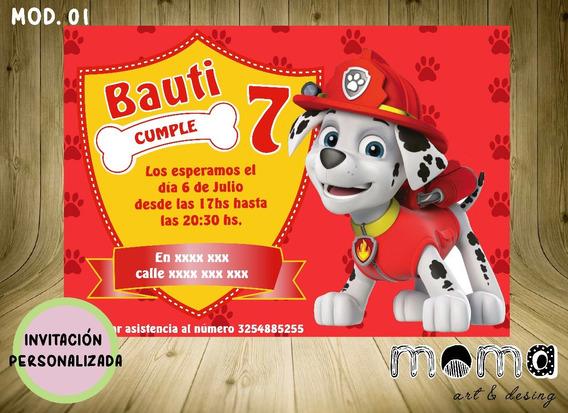 Invitaciones Imprimibles Y Digitales - La Patrulla Canina