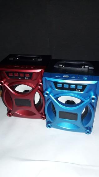 Corneta Recargable Bluetooth, Usb, Auxilar, Sd Y Radio