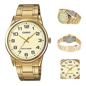 Reloj Casio Hombre Mtp-v001g,sg Dorado Envio Gratis|watchito