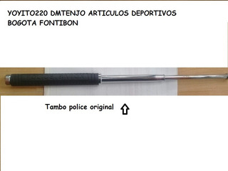 Baston Tambo Retractil Original Police De 50cm En Acero