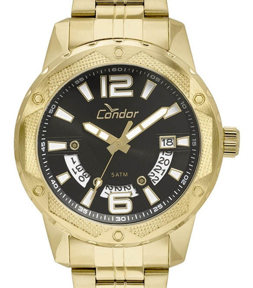 Relógio Condor Masculino Dourado Co2415bl/4p Original C/nf-e
