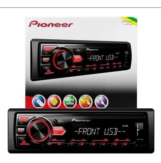 Radio Automotivo Pioneer Mvh-98ub Usb Auxiliar Rca