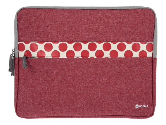 Funda Para Laptop 15.6 Gris Rojo Goodis A0003147
