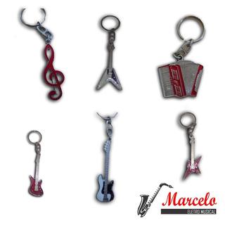 Chaveiro Instrumentos Musicais Kit Com 10 Unidades