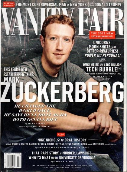 Vanity Fair Revista - Mark Zuckerberg