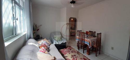 Apartamento Com 2 Dormitórios Térreo À Venda, 68 M² Por R$ 225.000 - Macuco - Santos/sp - Ap10459