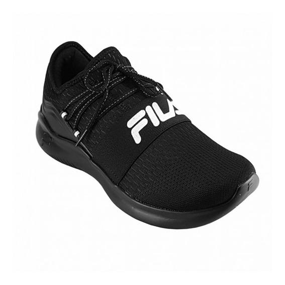 Zapatillas Fila Lifestyle Moda Trend Hombre Negra Negra