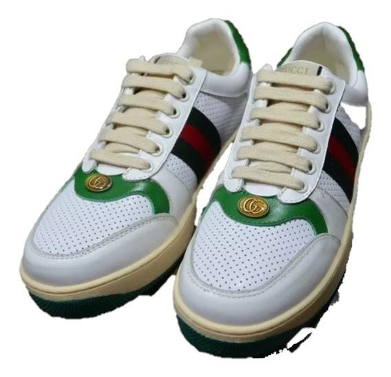 Tenis Sneakers Gucci Screener Verde Envio Gratis
