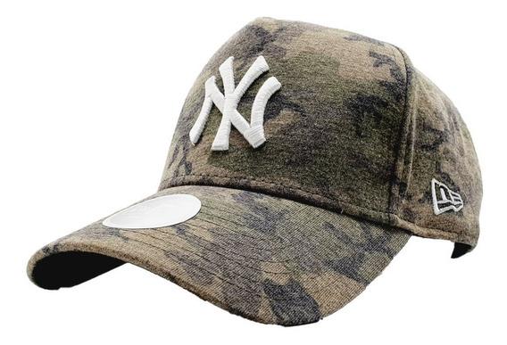 Gorra New York Yankees Mlb New Era Camuflaje Verde Jaspeado