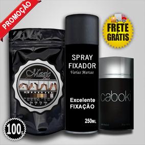 Kaboki 25g + Refil 100g + Spray Fixador + Frete Gratis
