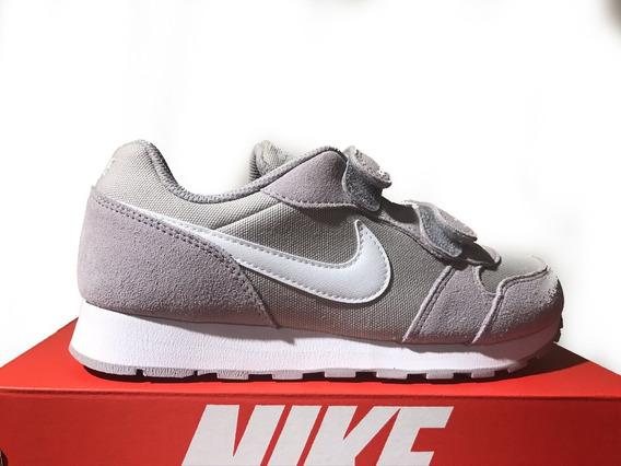 Tênis Infantil Nike Md Runner 2 Pe Cinza E Branco Original