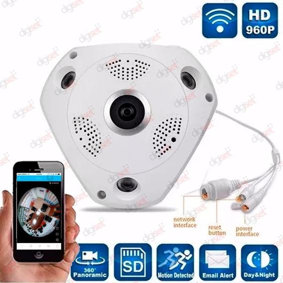 Camara Ip Wifi Vr 360 Full Hd 3d 1 3 Mp P2p 960p Celular