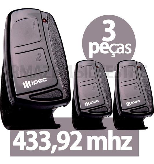 3 Controle Portão Eletrônico Alarme 433mhz Garen Ppa Rcg Seg