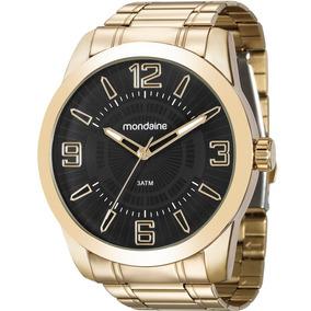 Relógio Mondaine Dourado Masculino 99140gpmvde2 Original