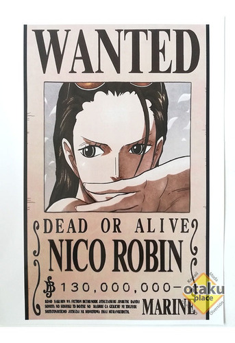 Poster One Piece Mediano Wanted De Nico Robin