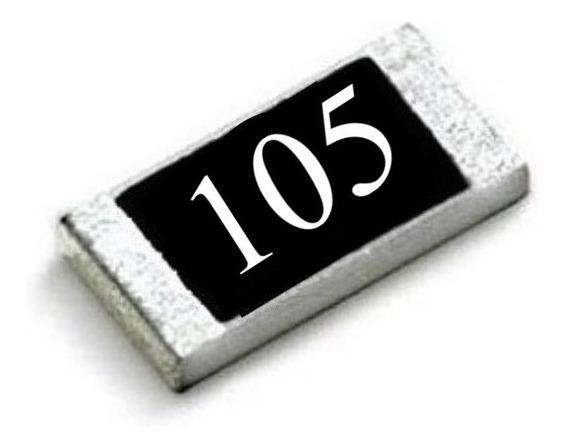 1m Ohms (25 Unidades) Resistor Smd 0805 (2,0mm X 1,2mm)