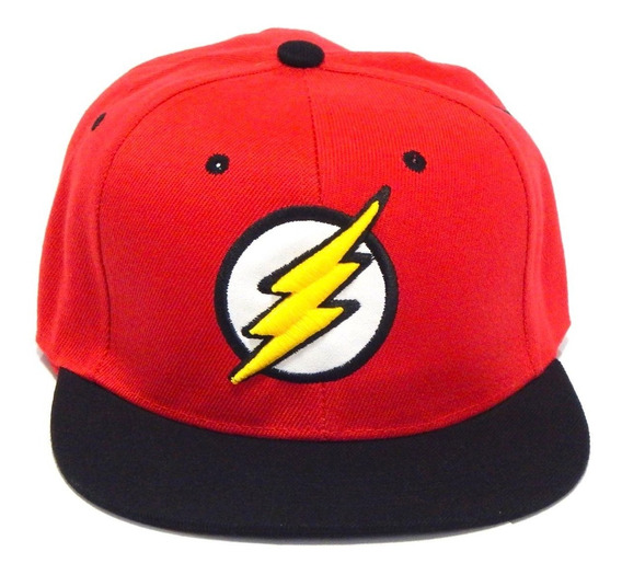The Flash Gorra Bordada 3d Dc Ajustable Comics Snapback