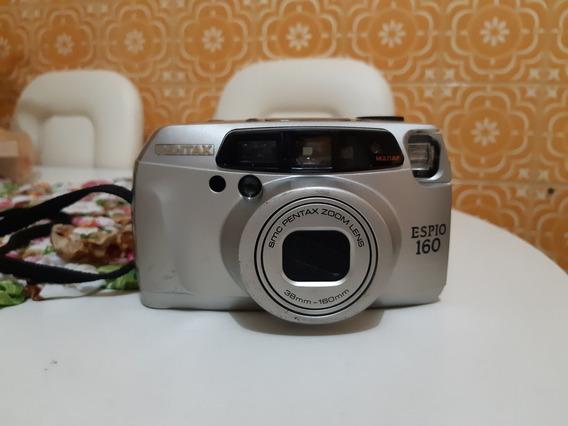 Câmera Analógica Maquina Fotográfica Pentax Espio 160 Contr