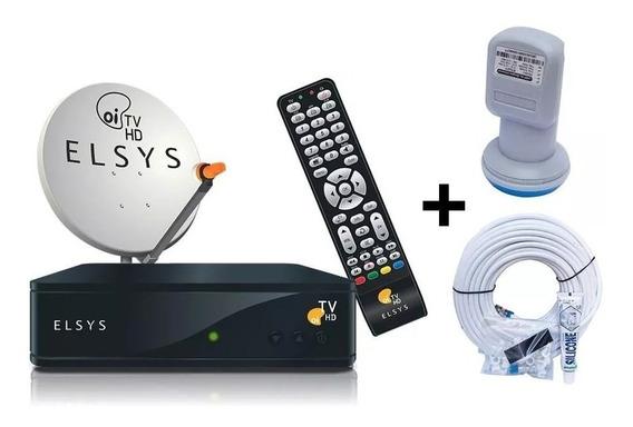 Receptor Elsys Oi Tv Livre Etrs 35 + Antena 60cm Completa