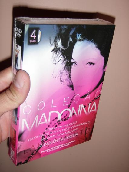Box Coleçao Madonna 4 Dvds - Novo, Original E Lacrado!