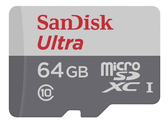 Cartão De Memória Sandisk Micro Sdhc 64gb/82mbs Classe 10