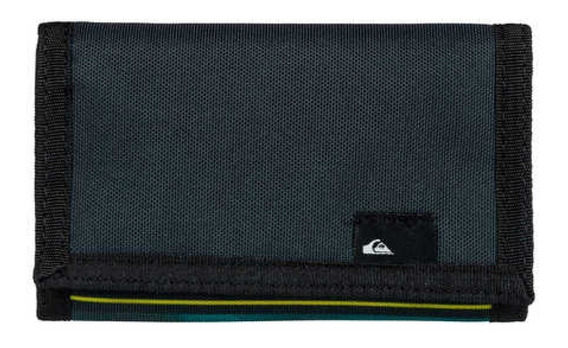 Quiksilver Billetera Hombre The Everydaily Verde - Negro