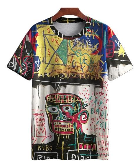 Camiseta Basquiat Pixo Graffiti Retro Street Art Swag 1 Mt