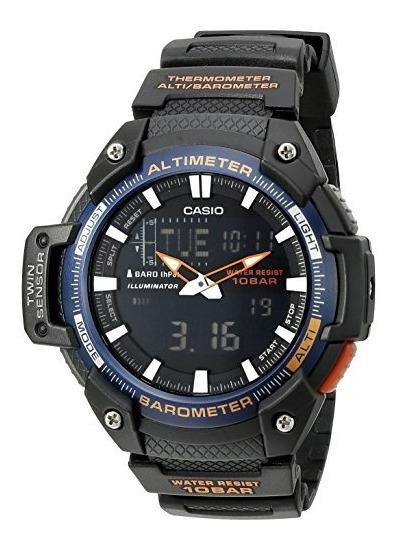 Casio Sgw-450h-2bcf Twin Reloj Analógico Y Digital Para Hom