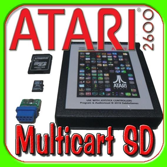 Multicart Sd Atari Cartão 3600 Roms Cartucho Fita Jogo Game